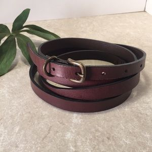 Banana Republic brown leather double belt S